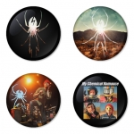 My Chemical Romance button badge 1.75 inch custom backside 4 type Pinback, Magnet, Mirror or Keychain. Get 4 in package [9]
