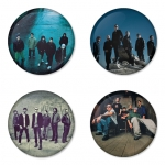 Linkin Park button badge 1.75 inch custom backside 4 type Pinback, Magnet, Mirror or Keychain. Get 4 in package [7]
