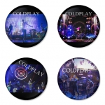Coldplay button badge 1.75 inch custom backside 4 type Pinback, Magnet, Mirror or Keychain. Get 4 in package [6]