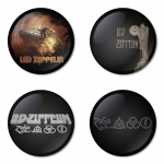 Led Zeppelin button badge 1.75 inch custom backside 4 type Pinback, Magnet, Mirror or Keychain. Get 4 in package [5]