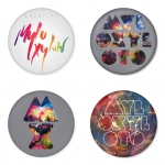 Coldplay button badge 1.75 inch custom backside 4 type Pinback, Magnet, Mirror or Keychain. Get 4 in package [2]