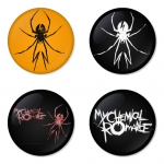 My Chemical Romance button badge 1.75 inch custom backside 4 type Pinback, Magnet, Mirror or Keychain. Get 4 in package [10]
