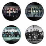 Linkin Park button badge 1.75 inch custom backside 4 type Pinback, Magnet, Mirror or Keychain. Get 4 in package [9]