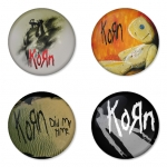 Korn button badge 1.75 inch custom backside 4 type Pinback, Magnet, Mirror or Keychain. Get 4 in package [7]