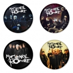 My Chemical Romance button badge 1.75 inch custom backside 4 type Pinback, Magnet, Mirror or Keychain. Get 4 in package [3]