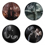 Korn button badge 1.75 inch custom backside 4 type Pinback, Magnet, Mirror or Keychain. Get 4 in package [5]