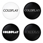 Coldplay button badge 1.75 inch custom backside 4 type Pinback, Magnet, Mirror or Keychain. Get 4 in package [17]