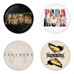 Paramore button badge 1.75 inch custom backside 4 type Pinback, Magnet, Mirror or Keychain. Get 4 in package [6]