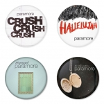 Paramore button badge 1.75 inch custom backside 4 type Pinback, Magnet, Mirror or Keychain. Get 4 in package [3]