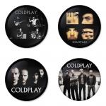 Coldplay button badge 1.75 inch custom backside 4 type Pinback, Magnet, Mirror or Keychain. Get 4 in package [16]