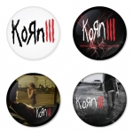Korn button badge 1.75 inch custom backside 4 type Pinback, Magnet, Mirror or Keychain. Get 4 in package [8]