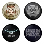 Linkin Park button badge 1.75 inch custom backside 4 type Pinback, Magnet, Mirror or Keychain. Get 4 in package [13]