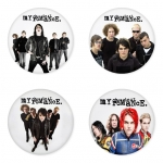 My Chemical Romance button badge 1.75 inch custom backside 4 type Pinback, Magnet, Mirror or Keychain. Get 4 in package [2]