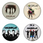 Coldplay button badge 1.75 inch custom backside 4 type Pinback, Magnet, Mirror or Keychain. Get 4 in package [13]