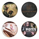 Korn button badge 1.75 inch custom backside 4 type Pinback, Magnet, Mirror or Keychain. Get 4 in package [6]