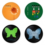 Coldplay button badge 1.75 inch custom backside 4 type Pinback, Magnet, Mirror or Keychain. Get 4 in package [4]
