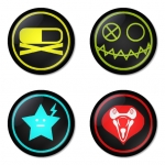 My Chemical Romance button badge 1.75 inch custom backside 4 type Pinback, Magnet, Mirror or Keychain. Get 4 in package [1]