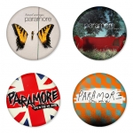 Paramore button badge 1.75 inch custom backside 4 type Pinback, Magnet, Mirror or Keychain. Get 4 in package [4]