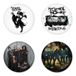 My Chemical Romance button badge 1.75 inch custom backside 4 type Pinback, Magnet, Mirror or Keychain. Get 4 in package [8]