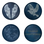 Coldplay button badge 1.75 inch custom backside 4 type Pinback, Magnet, Mirror or Keychain. Get 4 in package [1]
