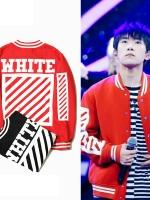 เสื้อแจ็คเก็ตเบสบอล TFBOYS พิมพ์ WHITE มี2สี