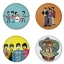 The Beatles button badge 1.75 inch custom backside 4 type Pinback, Magnet, Mirror or Keychain. Get 4 in package [3] thumbnail 1