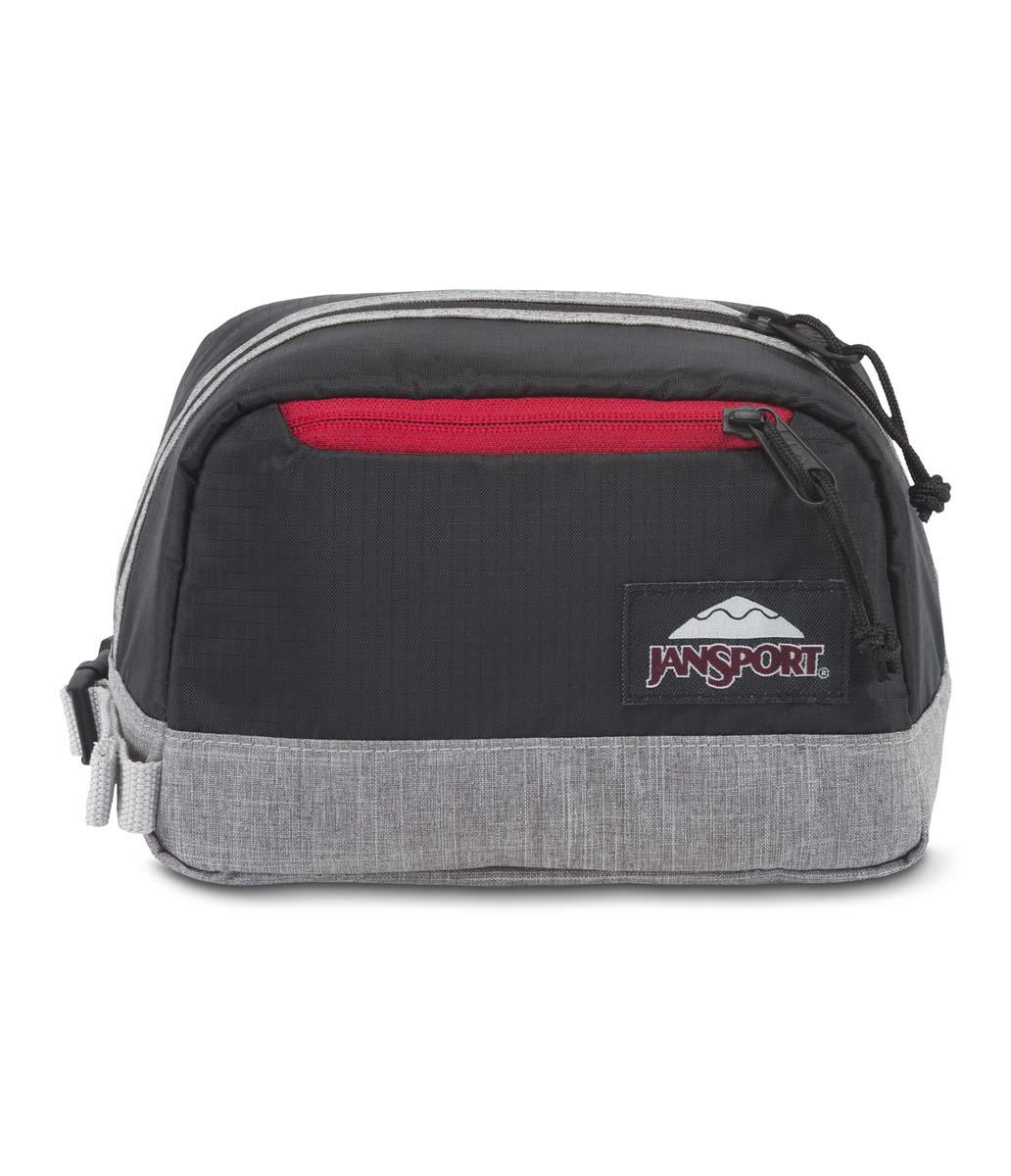 JanSport กระเป๋าเป้ รุ่น Dopp kit LD - Black Poly Ripstop/Grey Marl