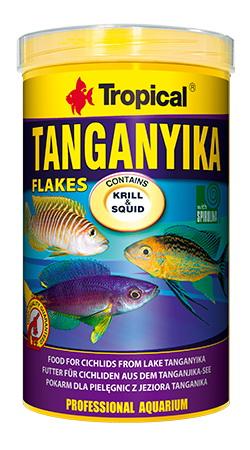 อาหารปลา TROPICAL Tanganyika Flakes (สูตรสำหรับปลาป่า)