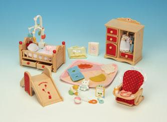 ซิลวาเนียน(EU) เฟอร์นิเจอร์ห้องเบบี้ (EU) Sylvanian Families Baby Room Set