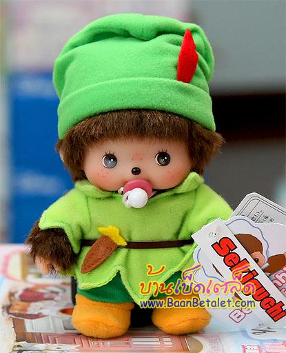 ตุ๊กตาเบบี้จิจิชุดปีเตอร์แพน 5.5 นิ้ว (Peterpan Bebichhichi Boy)