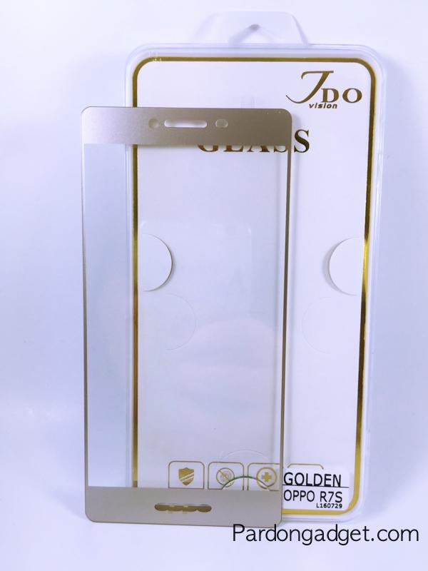 ฟิล์มกระจกเต็มจอ Oppo R7S สีทอง