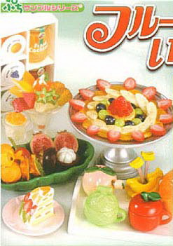 [SOLD OUT] Re-Ment ของจิ๋ว..รวมมิตรขนมจากผลไม้ 10 แบบ (Full of Fruit)