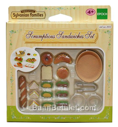 ซิลวาเนียน แซนด์วิชแสนอร่อย (EU) Sylvanian Families Scrumptious Sandwiches Set
