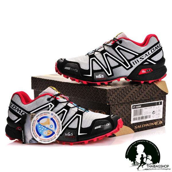 รองเท้า salomon สี เทาแดง