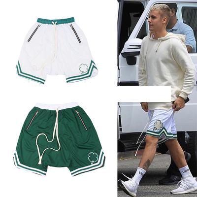 กางเกงขาสั้น Justin Bieber แต่งขอบหยัก มี2สี