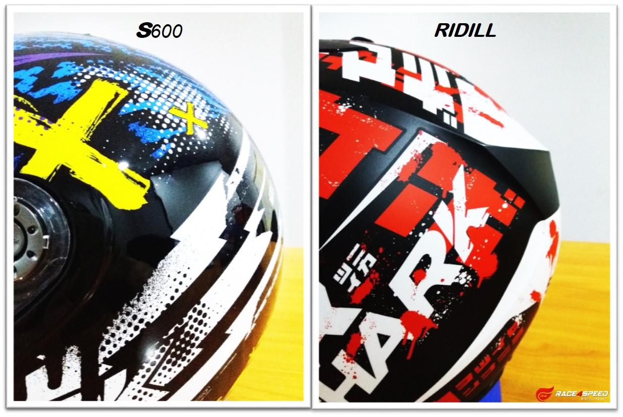 เปรียบเทียบ รูปทรงด้านหลังของ SHARK RIDILL กับ SHARK S600