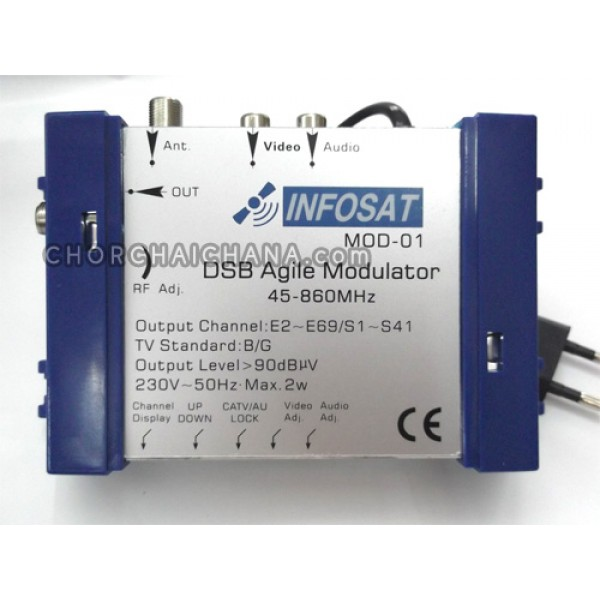 Muodulator INFOSAT รุ่น MOD-01