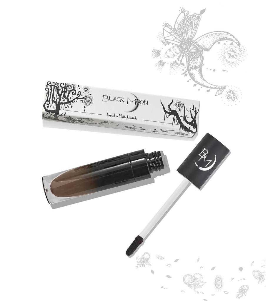 ( พรีออเดอร์ ) Black Moon Liquid Lipstick สี GRIM