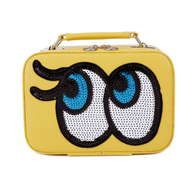 กระเป๋าเครื่องสำอาง big eyes mini สีเหลือง