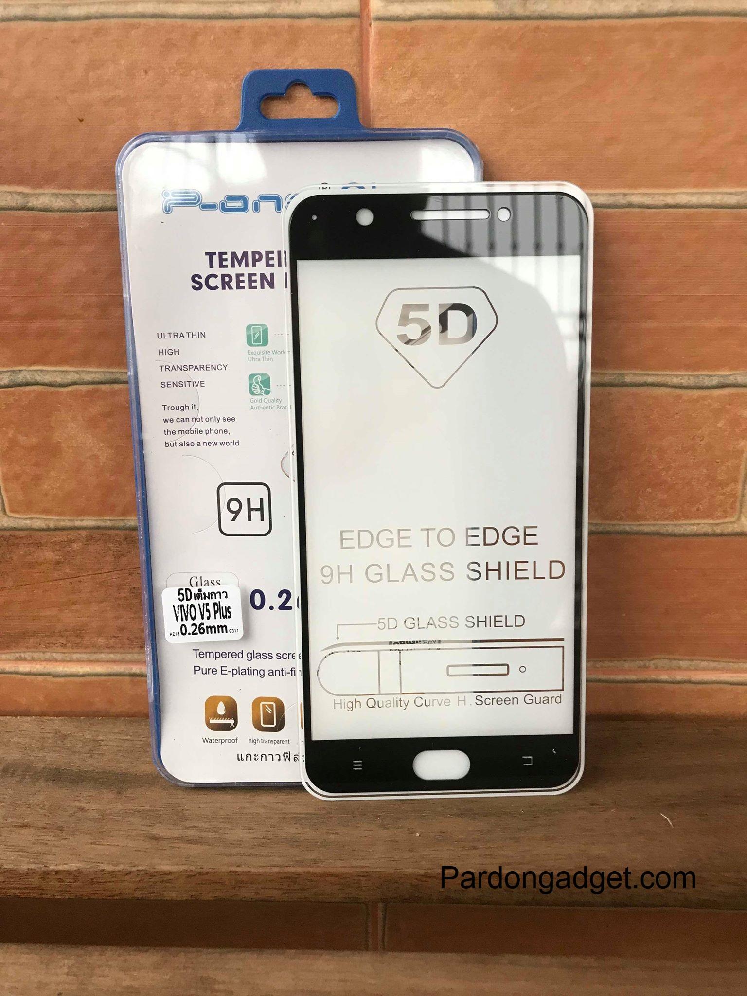 ฟิล์มกระจก5Dกาวเต็มจอ V5 Plus ดำ