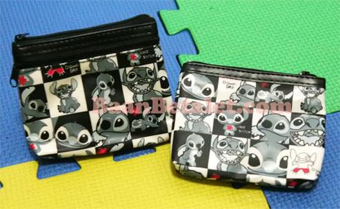 กระเป๋าใส่เศษสตางค์ลายตารางสติทช์ 12x9x1.5ซม. (Stitch TW-101FC)