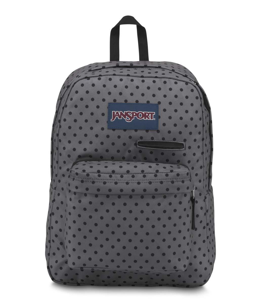 JanSport กระเป๋าเป้ JS00T50F35W รุ่น Digibreak - Black Dot-O-Rama