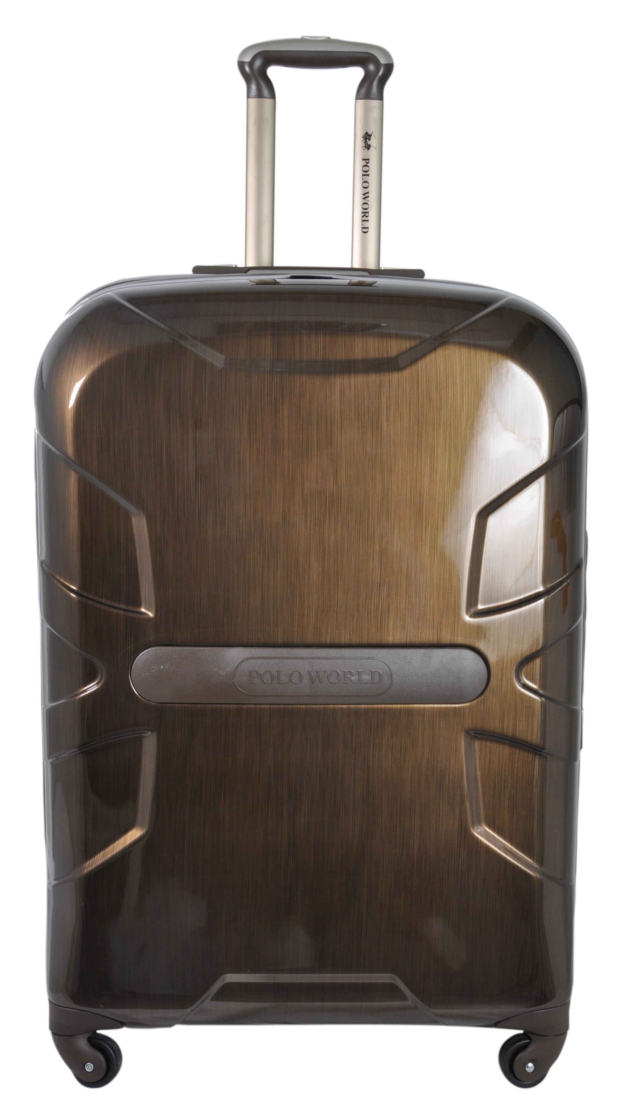 """กระเป๋าเดินทาง Polo World รุ่น PW121-TSA 24"""" (สีน้ำตาลเนื้อด้าน)"""
