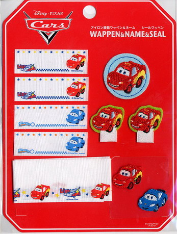 ชุดรวมแผ่นรีดติดเสื้อ Disney/Pixar Cars สำหรับเขียนชื่อติดหรือตกแต่งเสื้อผ้า กระเป๋า ถุงเท้าเด็ก