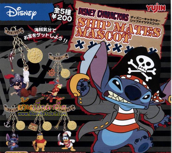 โมเดลดีสนีย์โจรสลัด 5 แบบ (Disney Ship Mates Mascot: Micky, Pooh, Stitch, Donald, Tigger)