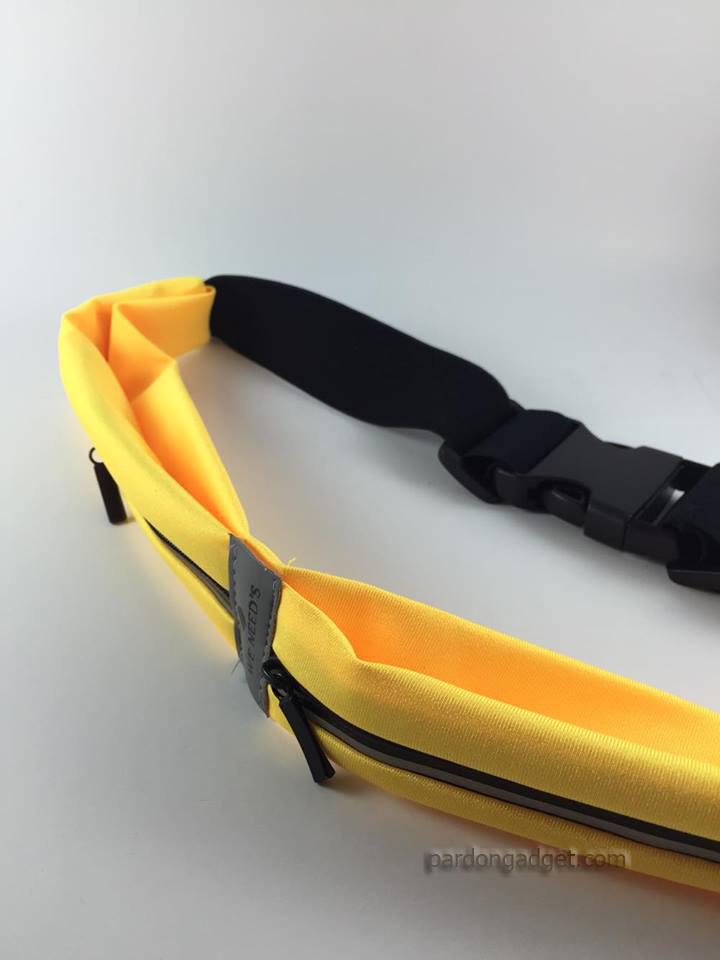 กระเป๋าคาดเอว2ช่อง สีเหลือง