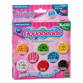Aquabeads Solid Bead Pack อะควอบีด ชุดเม็ดบีดสีหลัก