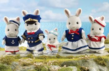 ครอบครัวซิลวาเนียน กระต่ายโคลัมบัส 5 ตัว (UK) Sylvanian Families Columbus Rabbit Family