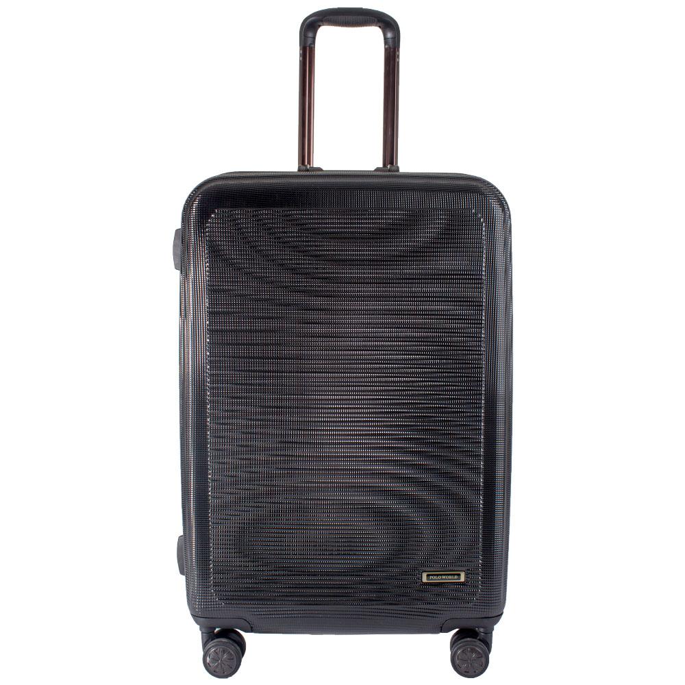 """กระเป๋าเดินทาง Polo World รุ่น PW285-TSA 24"""" (สีดำ)"""