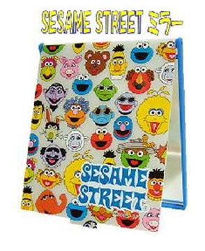 กระจกรวมตัวเอกเซซามี สตรีท-เอลโม่ (Sesame Street - Elmo Compact Mirror )